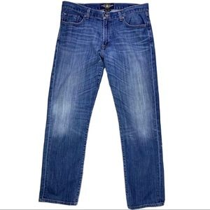 LUCKY BRAND 221 ORIGINAL STRAIGHT  BLUE JEANS